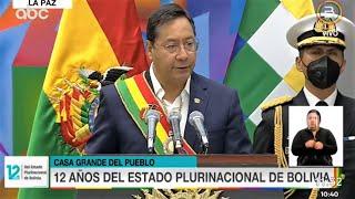 Discurso del presidente Luis Arce en el Dia del Estado Plurinacional de Bolivia 2021