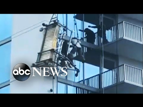 Workers left dangling after scaffold collapse in Atlanta
