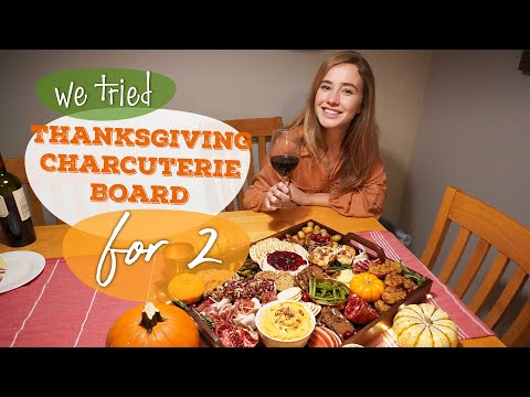 Enjoy a Gorgeous & Mouthwatering Thanksgiving Charcuterie Board | Dinner For Two | We Tried It
