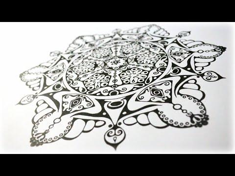 Zentangle Inspired Art #43