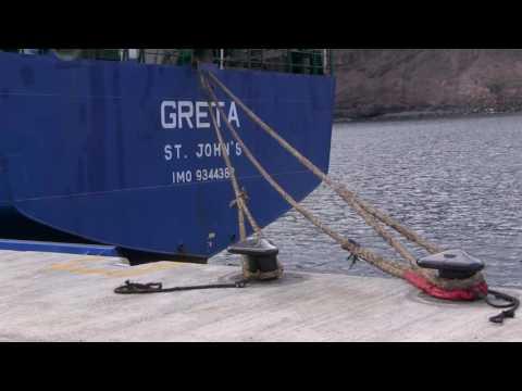 MV Greta docked at Rupert's Wharf