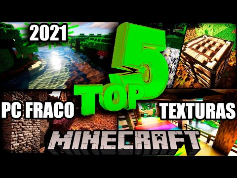 TOP 5 TEXTURAS MINECRAFT 2021 WINDOWS 10