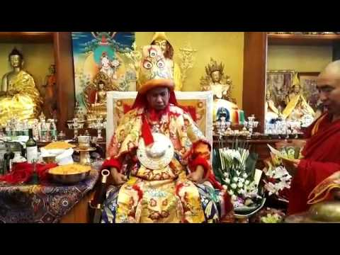 Dorje Shugden oracle taking trance in China