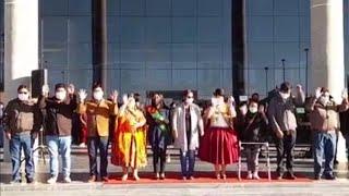Conferencia de Prensa de la alcaldesa del Gobierno Autónomo Municipal de El Alto, M. Eva Copa Murga.