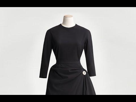 New Look-silhuett från NK:s Franska damskrädderi på Nordiska museet
