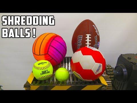 connectYoutube - Shredding 9 Different Balls With Shredder