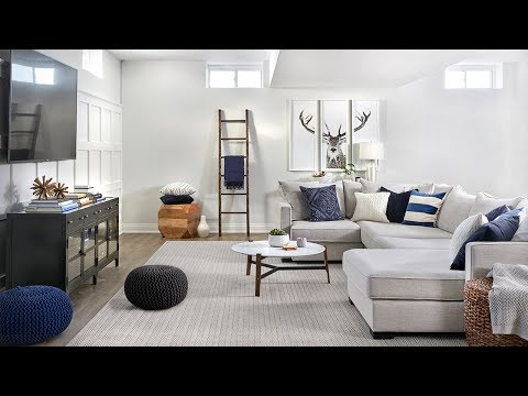 Interior Design – Watch A Bright Family Basement Come To Life!