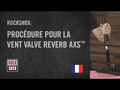RockShox: Procédure pour la Vent Valve Reverb AXS