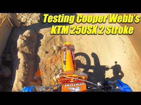 Testing Cooper Webb's Factory KTM 300SX 2 Stroke - Motocross Action Magazine