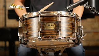 Pork Pie 6x14 Maple Snare Drum Macassar Ebony Veneer—Quick 'n' Dirty