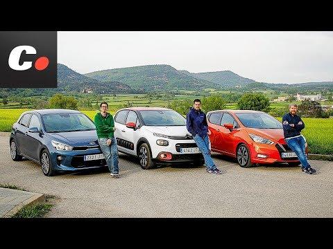 Kia Rio 2017 vs Nissan Micra vs Citroën C3 | Comparativa | Prueba / review en español | Coches.net