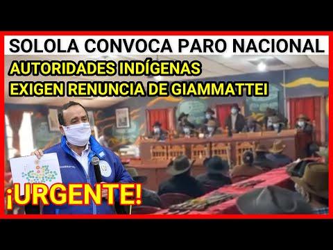 Urgente Guatemala, autoridades indígenas exigen renuncia de Giammattei, paro nacional 29 de julio