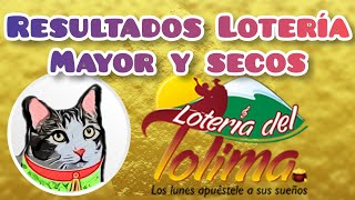 Resultado Lotería del Tolima Premio Mayor y Secos Lunes 30 de Noviembre de 2020