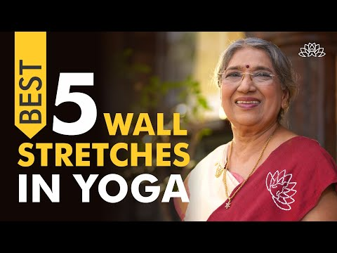 5 best wall stretches for flexibility and right body alignment | Dr. Hansaji Yogendra