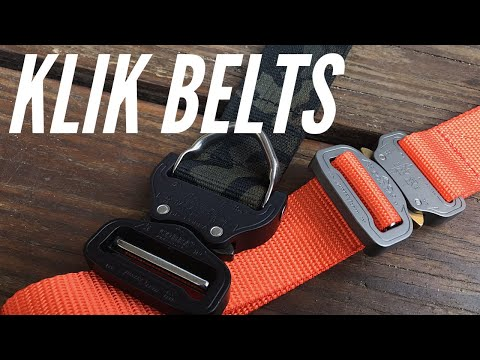 Klik Belts: Everyday Excellence for Life, Concealed Carry, Outdoors Use