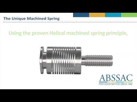 SPRINGS - Machined into a single piece working unit