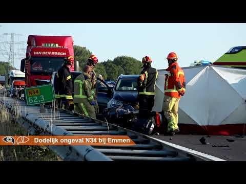Dodelijk ongeval op de N34 bij Emmen