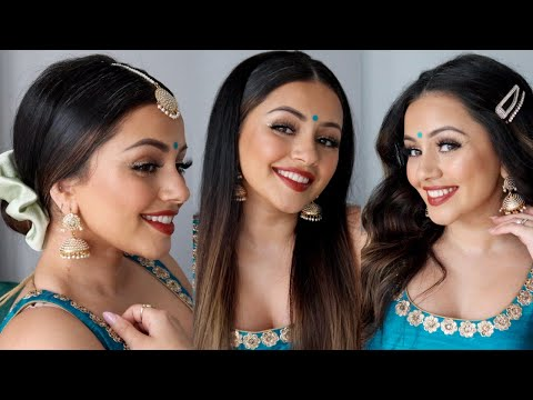 3 EASY DIWALI HAIR STYLES | 3 EASY FESTIVE HAIR STYLES | HAIR TUTORIAL | AD