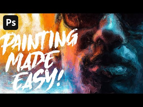 Anyone can create incredible paintings in Photoshop with a single tool!