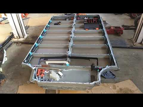 Inside a Tesla Model S Battery Case