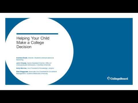 Making a College Decision Parent Webinar