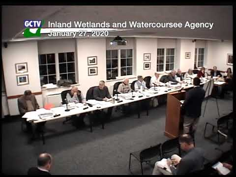 Inland Wetlands & Watercourses Agency, January 27, 2020