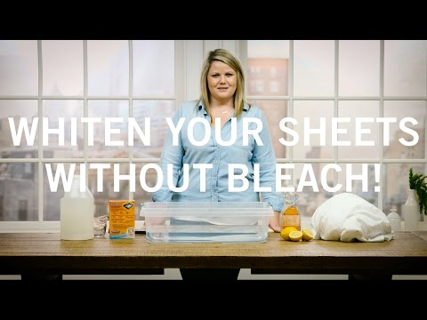 How to Whiten your sheets without bleach