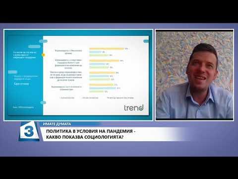 """""""Имате думата"""" на 12.04.2020г: Гост е Анастас Стефанов от ТРЕНД"""