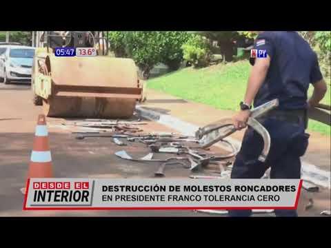 Tolerancia cero a motos con roncadores en Presidente Franco