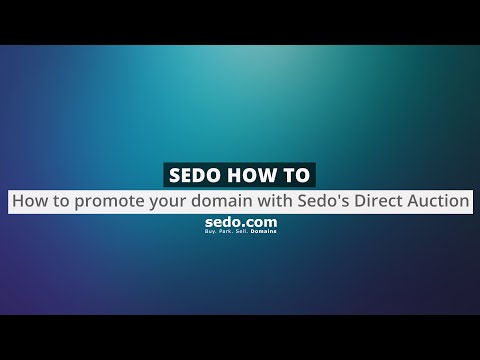 How to promote your domain with Sedo's Direct Auction