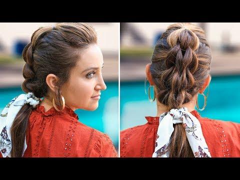 3-Strand Pull-Thru Braid | DIY Easy Hairstyles