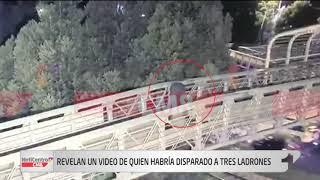 Revelan video de quien habría disparado a tres ladrones en puente peatonal de Usaquén