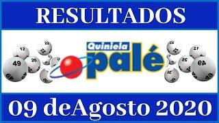 Resultados de la loteria Quiniela Pale de hoy 09 de Agosto del 2020