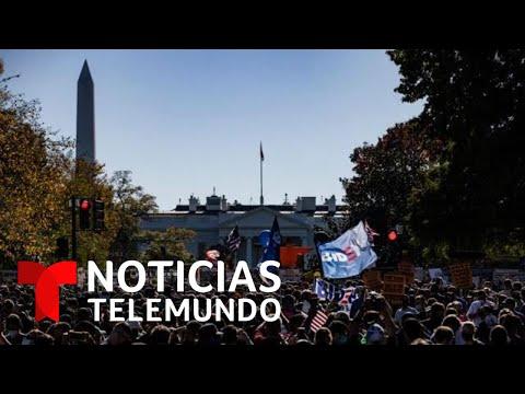 Concentración en alrededores de la Casa Blanca para celebrar triunfo de Biden | Noticias Telemundo