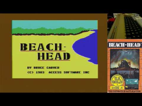 Juegos Épicos - Beach Head - Commodore 64 real #Commodore64 Full