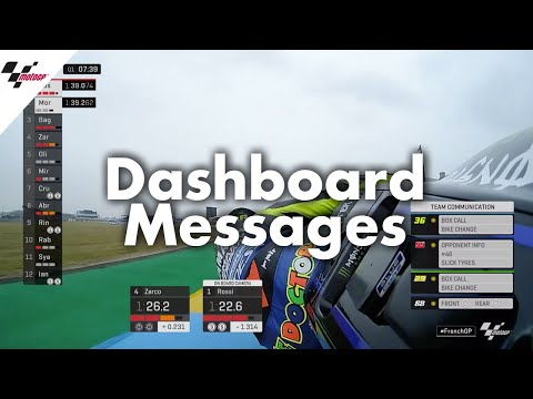 From Mapping 8 to Back to Box: Dashboard messages in MotoGP?