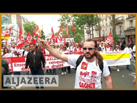 🇫🇷 Thousands of public workers protest against Macron's reforms | Al Jazeera English