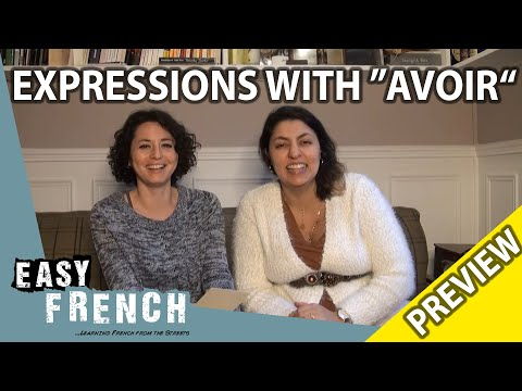 """10 useful expressions with """"avoir""""  (Trailer) 