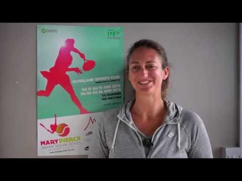 Entretien de Mary Pierce, Interview of Mary Pierce.