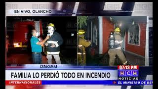 Familia lo pierde todo tras voraz incendio en una cuartería en #Catacamas, Olancho