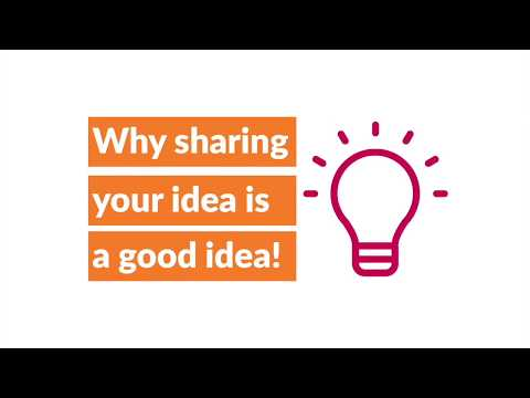 Ideas are worth sharing