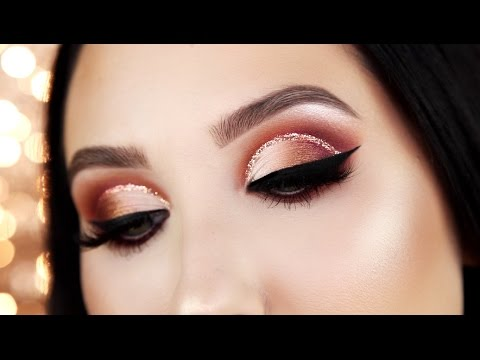 Warm Glitter Cut Crease Tutorial | Jaclyn Hill