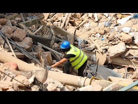 A Beirut llegaron los Topos Chilenos para ayudar a reconstruir la ciudad