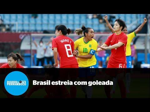 Brasil goleia China em sua estreia em Tóquio-2020