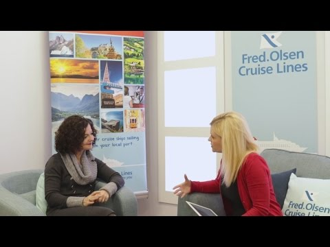 Fred. Olsen Cruise Lines meets with Assis Carriero from BooksEast Festival