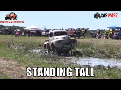 STANDING TALL Mega Truck Clears The Big Pit At Red Barn Customs Mud Bog 2018