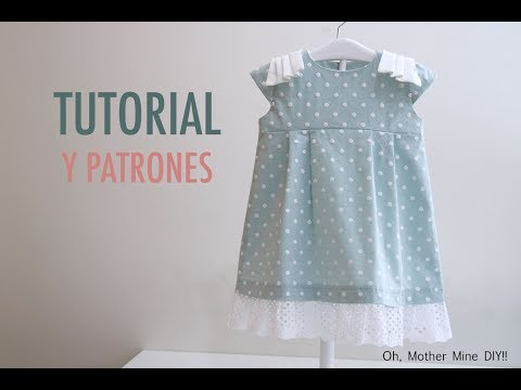Costura y patrones vestido para niñas (gratis hasta talla 7 años)