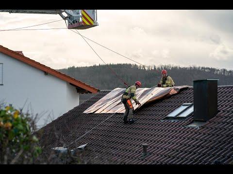 Sturmtief Mühlacker: Eindrücke vom Vormittag