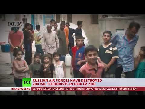 Russian air force destroys 200+ ISIS terrorists heading for Deir ez-Zor, Syria – MoD
