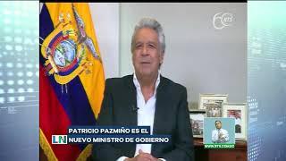 Lenín Moreno informó que Patricio Pazmiño en el nuevo ministro de Gobierno